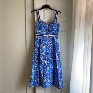 Lily Pulitzer midi dress with pockets